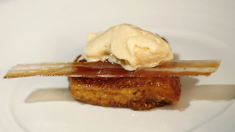 Egg and bacon ice cream. Image copyright Charles Haynes