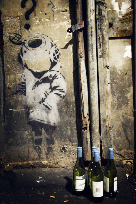 Banksy's Little Diver
