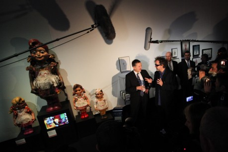 Tim Burton: The Exhibition in action.