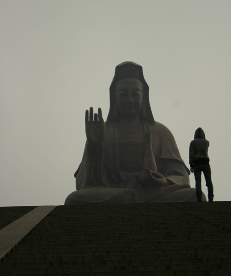 Giant bronze Guanyin statue at Mt. Xiqiao. Image copyright me.