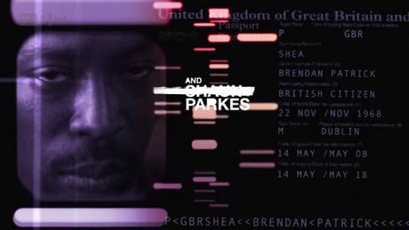Shaun Parkes's credit in Identity (copyright ITV)
