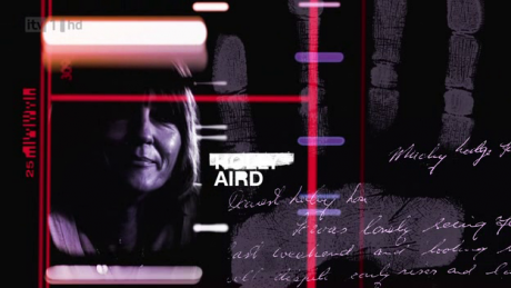 Holly Aird's credit in Identity, with her first name erased (copyright ITV)