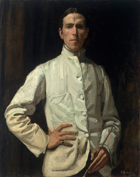 Hugh Ramsay, Self-portrait in white jacket (1901–02)