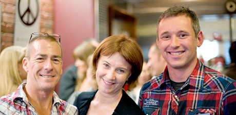 Phil Hammond and Susanna Murray from Artisan Brisbane with Simon Mundy from AGDA.
