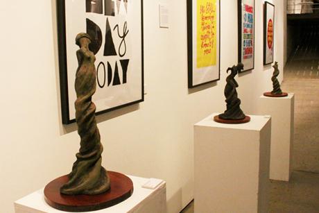 Elzunia Rejmer sculptures and Adam Rowe prints