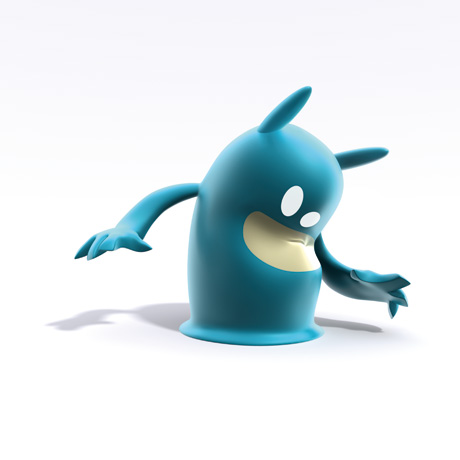 Blob blue caught, de Blob