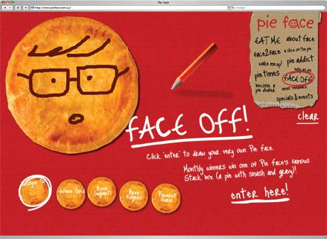 Pie Face website